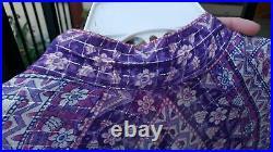 Sultana by Adini Indian Sheer Cotton Gauze Caftan Maxi Dress Vintage 70s Boho