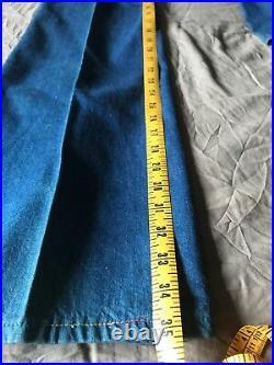 VTG Deadstock NWT 70s Landlubber Sanforized Bell Bottom Wide Leg Jeans 7 25w