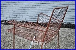 Van Keppel Green Vtg Mid Century Modern Iron Wing Lounge Chair Salterini Woodard