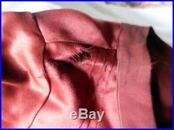 Vintage 1920s RED SILK DRESS Bust 35 Flapper