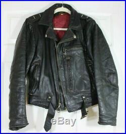 Vintage 1940's 1950's Harley Davidson Horsehide Leather Biker Jacket Sz 38 SWEET