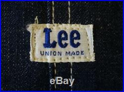 Vintage 1950s Lee 91-J Denim Coverall Jacket 40 Union Made SANFORIZED Deadstock