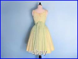 Vintage 1950s Mint Green Prom Dress, Vintage 50s Full Skirt Party Dress