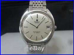 Vintage 1960-70's UNIVERSAL GENEVE Automatic watch White Shadow Original band