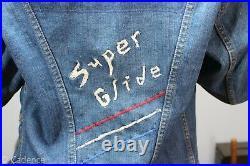 Vintage 1960's Wrangler Harley Davidson Denim Jean Jacket Embroidered COOL J194