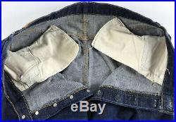 Vintage 1966-1969 Levi's Big E Selvedge 501 Mens Jeans 38 x 30