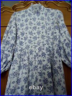 Vintage 1970 Laura Ashley Maxi Prairie Dress XL