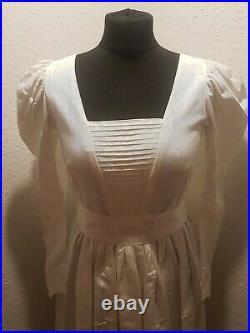 Vintage 1970s 1980s Laura Ashley Wedding Dress/bridal Dress Ivory Size 12