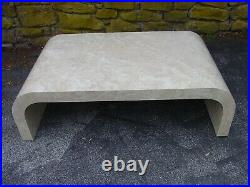 Vintage 1970s/80s Waterfall Faux Marble Laminate 3pc Coffee & End Table Set