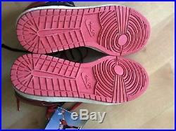 Vintage 80s OG NIKE 1985 AIR JORDAN 1 Hi 4281 Black/Red Shoes US 7 Deadstock New
