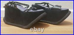 Vintage 90's Luichiny Mega Bubble 5 in Platform Suede Sandals Club Rave Sz 39 9
