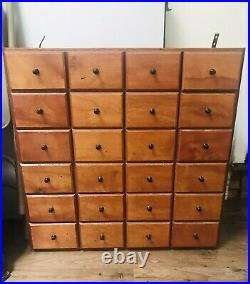 Vintage Apothecary Cabinet SOLID WOOD Nice Condition Very Heavy