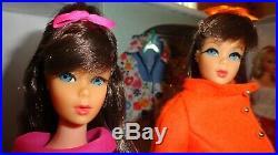 Vintage Barbie Mod Lot 1968 Case Tnt Dolls Clothes Acces. Exc. To Tlc Clean