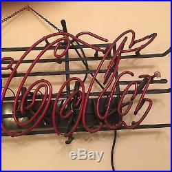Vintage Coca Cola bar dekor lighted sign ULTRA RARE ANTIQUE COKE SIGN 33.5x13