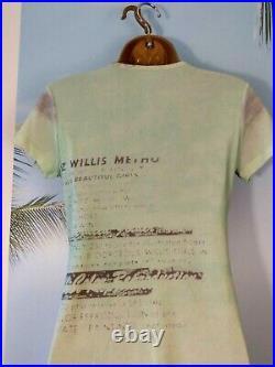 Vintage Cop Copine Gautier Era Rare Cult 90s Graphic Neon Mesh Midi Dress M