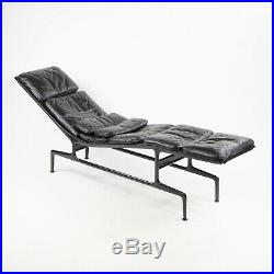 Vintage Eames Herman Miller Billy Wilder Black and Eggplant Chaise Lounge Chair