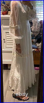 Vintage Gunne Sax Victorian Style Renaissance Bridal Wedding Dress