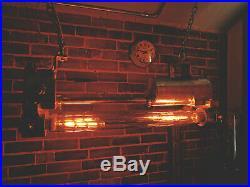 Vintage Korean Explosion-Proof Twin Fluorescent Light Industrial Marine