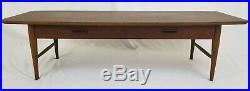 Vintage Lane surfboard coffee table with drawer retro Atla Vista Mid-Century