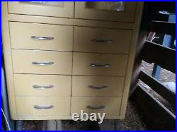 Vintage Medical Cabinet Industrial Vintage Metal Glass Cabinet