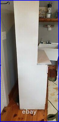 Vintage Metal 50s Mid Century Kitchen Bathroom Storage Cabinet Hoosier Cabinet