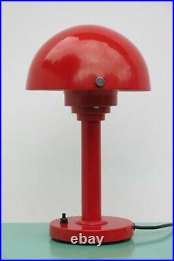 Vintage Mid Century 70's Red Mushroom Lamp