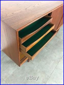Vintage Mid Century Danish Modern Teak Credenza Sideboard Buffet Gunni Omann 60s