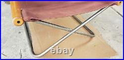 Vintage Mid Century Modern Canvas Japanese NY Takeshi Nii Sling Folding Chair
