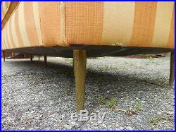 Vintage Milo Baughman Thayer Coggin X Long Sofa Mid Century Modern Probber Era
