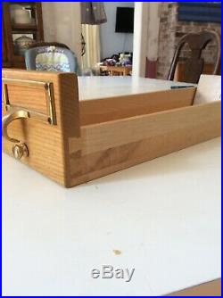 Vintage Oak 72 Drawer Library Card Catalog Cabinet Wood