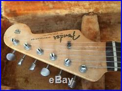 Vintage Original 1961 Fender Stratocaster Fiesta Red