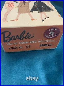 Vintage Ponytail Barbie #3 Original (R) Box (Gay Parisienne) OSS Pedestal Stand