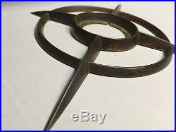 Vintage Schlage Brass Starburst Atomic Door Plate Escutcheon Mid Century Modern