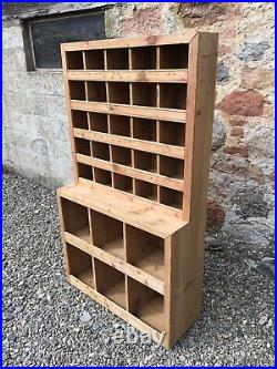 Vintage Shop Fitting / Pigeon Hole Unit / Store Cupboard