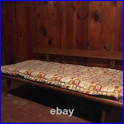 Vintage mid century modern daybed with original mattress and bolster pillows