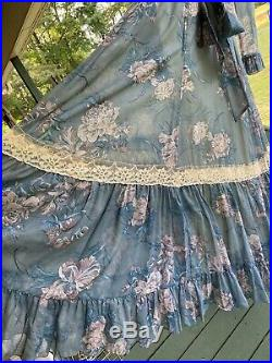 Vtg 1970s Gunne Sax Dress Size 11Renaissance Festival Hippie Prairie Boho Floral