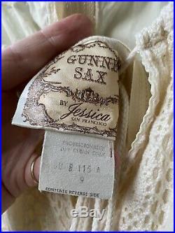 Vtg 1970s Gunne Sax Dress Size 9 Renaissance Festival Hippie Prairie Wedding